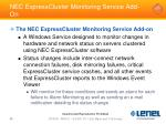 nec expresscluster monitoring service add on