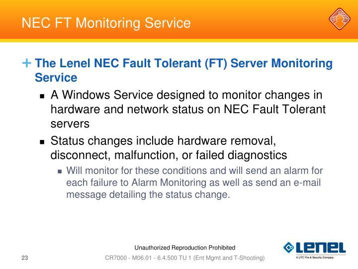 NEC FT Monitoring Service