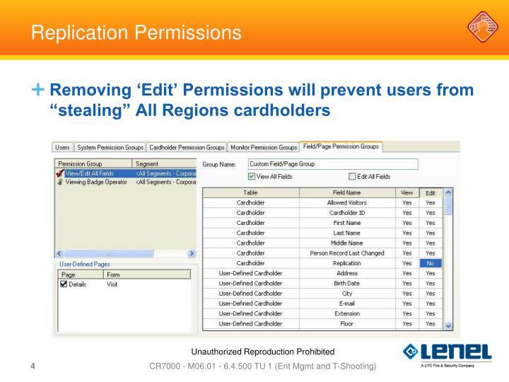 Replication Permissions