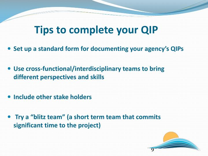 Tips to complete your QIP