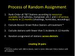 process of random assignment
