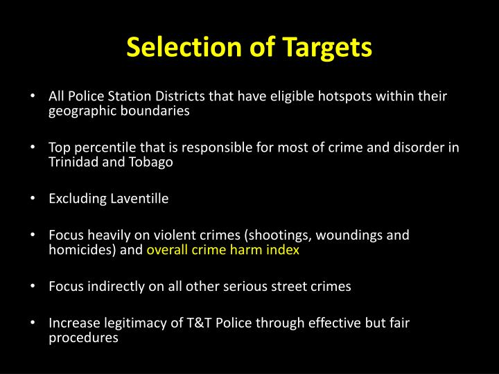 Selection of Targets