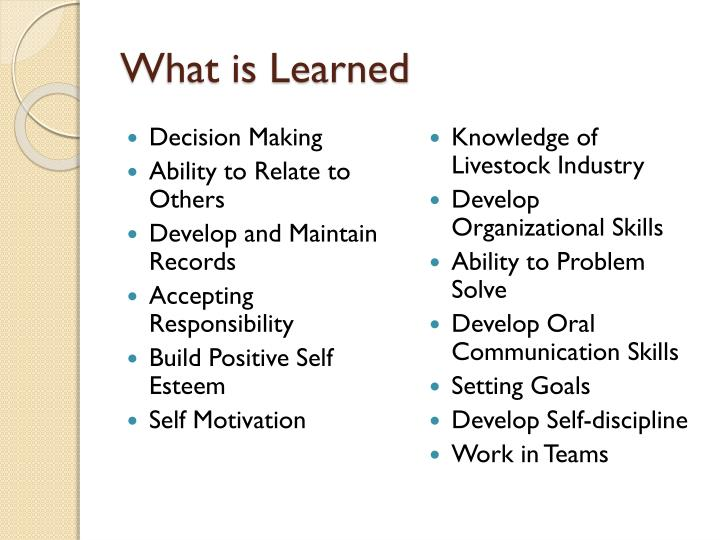 What is Learned