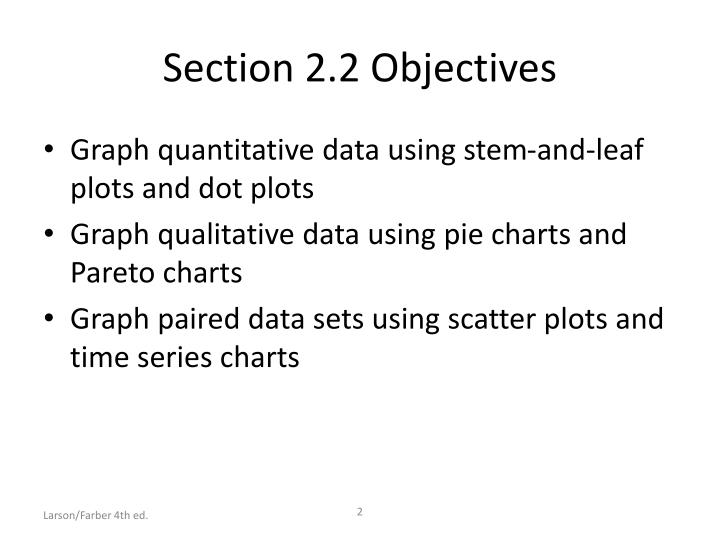 Section 2 2 objectives