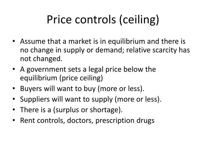 Price controls (ceiling)