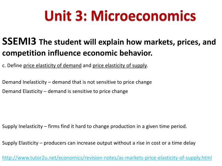 Unit 3: Microeconomics