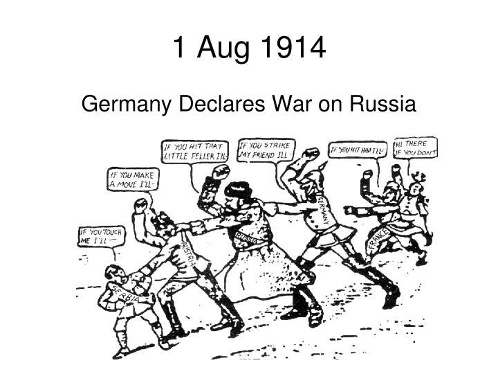 1 Aug 1914