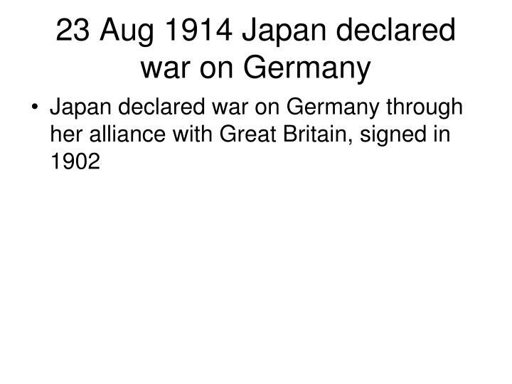 23 Aug 1914 Japan