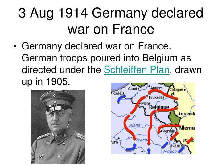 3 Aug 1914