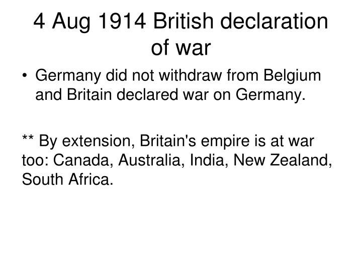 4 Aug 1914