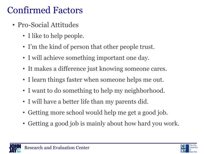 Confirmed Factors
