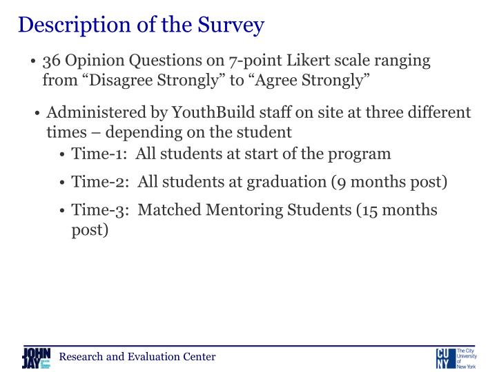 Description of the Survey