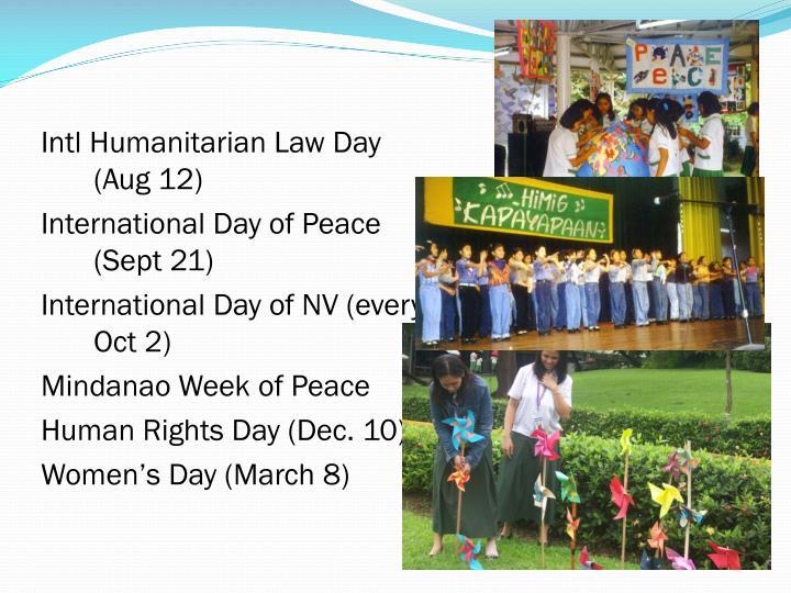 Intl Humanitarian Law Day (Aug 12)
