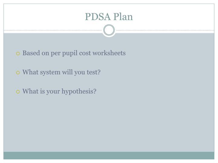 PDSA Plan