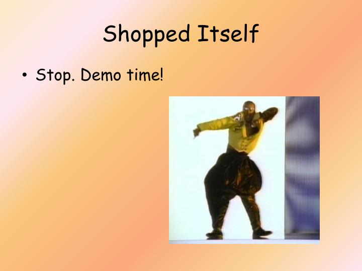 Shopped Itself