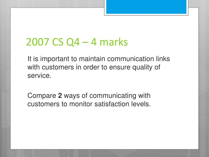 2007 CS Q4 – 4 marks