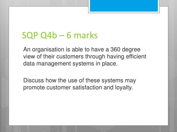 SQP Q4b – 6 marks
