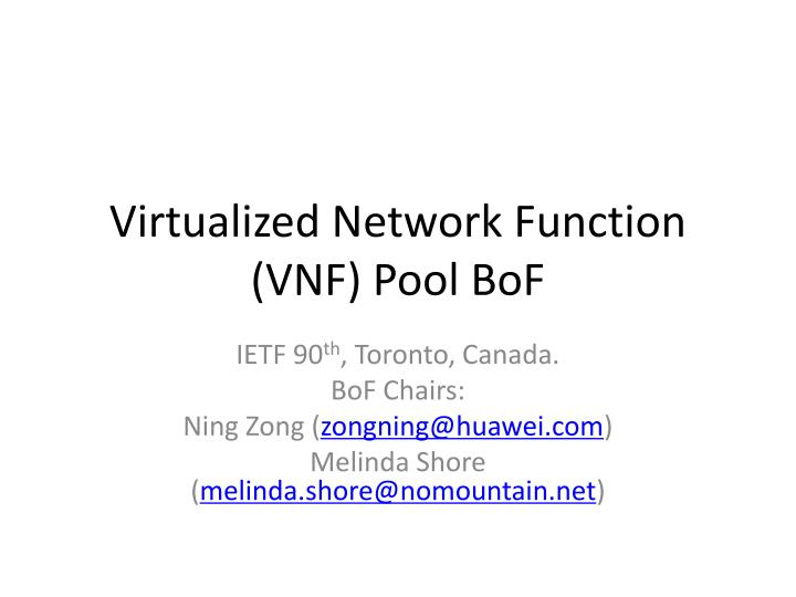 virtualized network function vnf pool bof