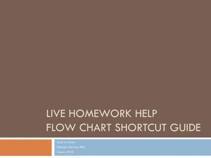 live homework help flow chart shortcut guide