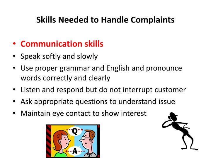 Skills Needed to Handle Complaints