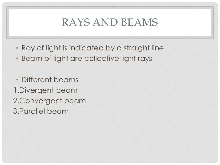 Rays and beams