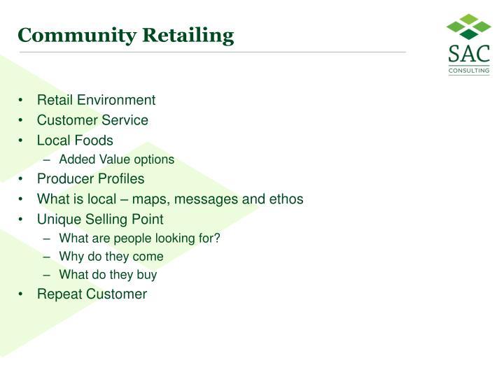 Community Retailing