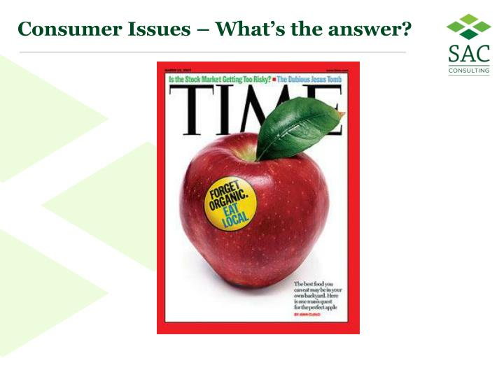 Consumer Issues – What's the answer?
