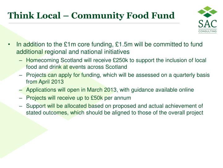 Think Local – Community Food Fund