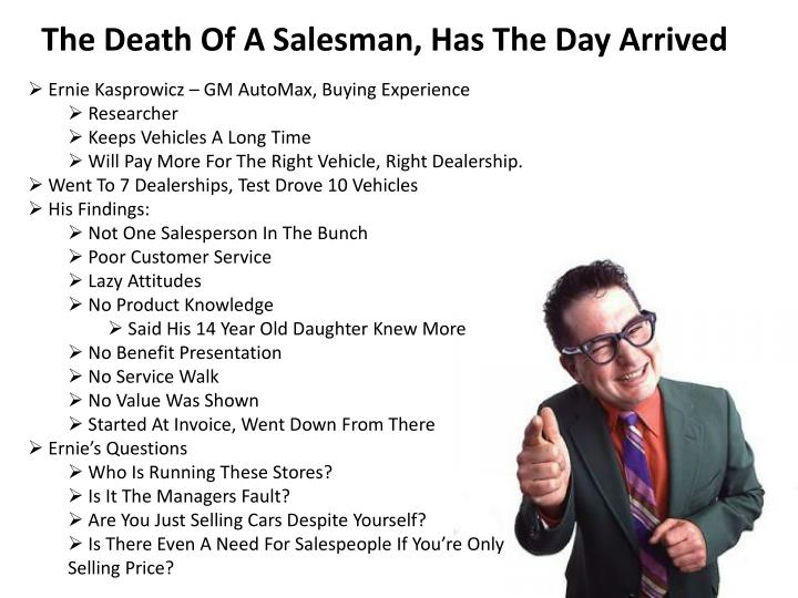 The Death Of A Salesman, Has The Day Arrived