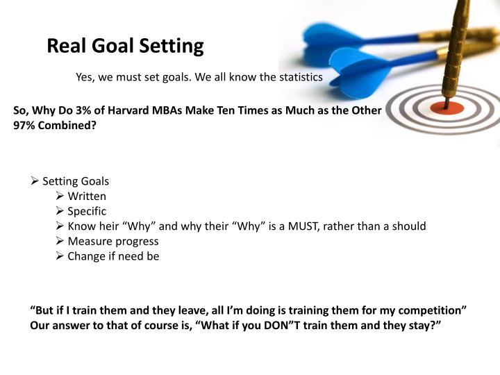 Real Goal Setting
