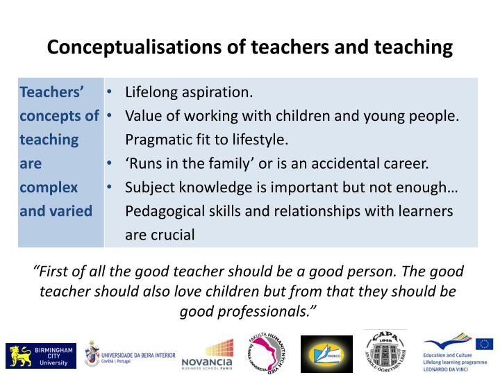 Conceptualisations of teachers and