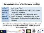 conceptualisations of teachers and teaching