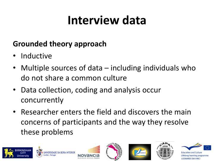 Interview data