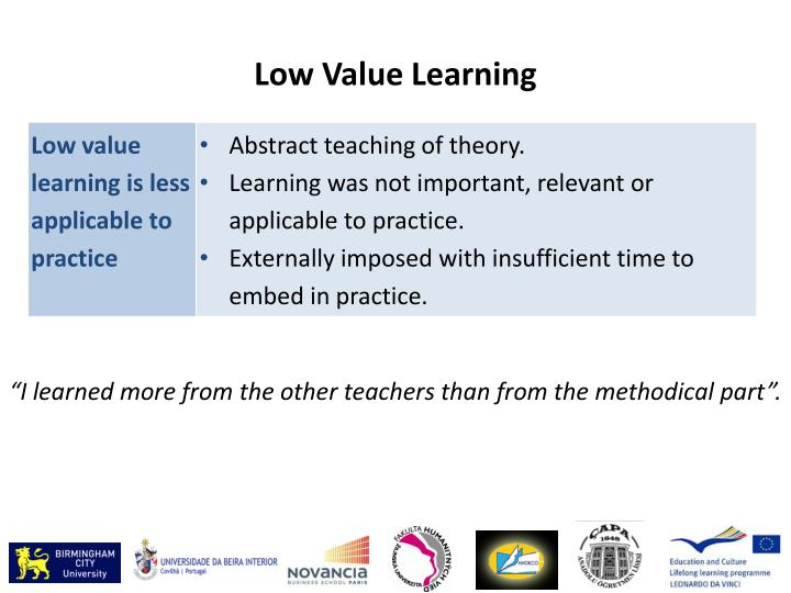 Low Value Learning