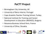 pactt project