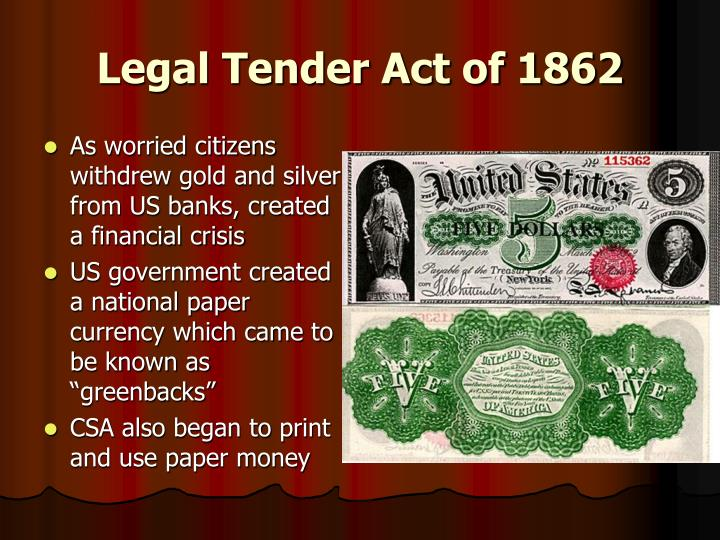 Legal Tender Act of 1862