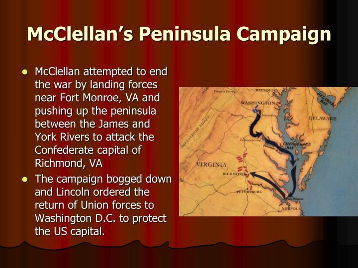 McClellan's Peninsula Campaign