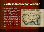 north s strategy for winning