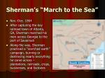 sherman s march to the sea