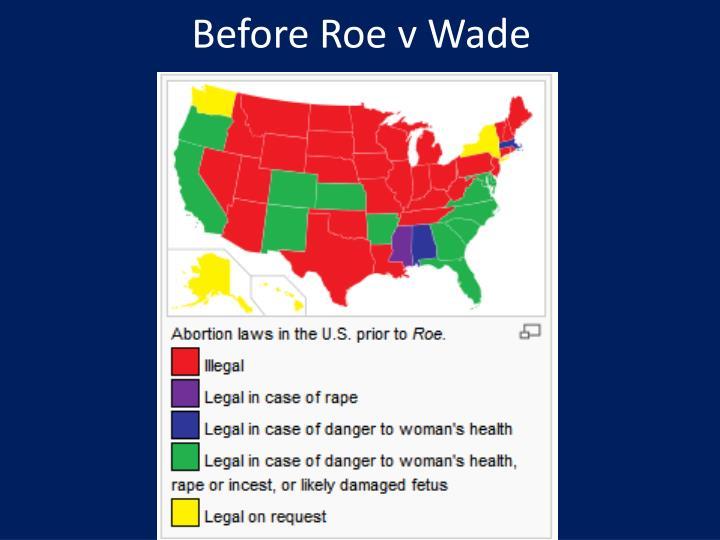 Before Roe v Wade