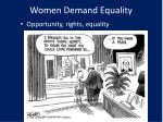 women demand equality
