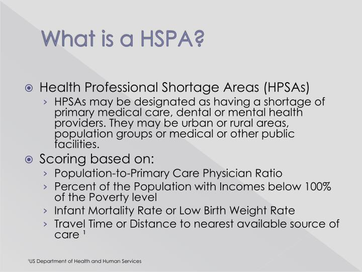 What is a HSPA?