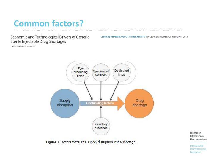 Common factors?
