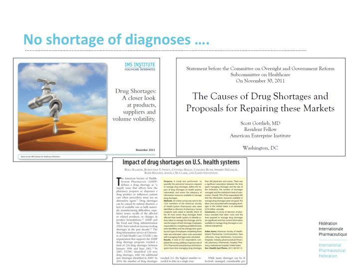 No shortage of diagnoses ….