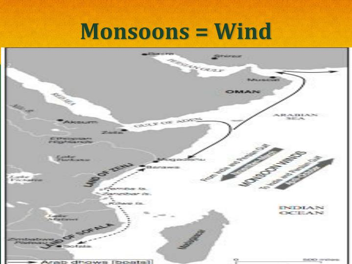 Monsoons = Wind