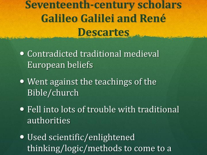 Seventeenth-century scholars Galileo