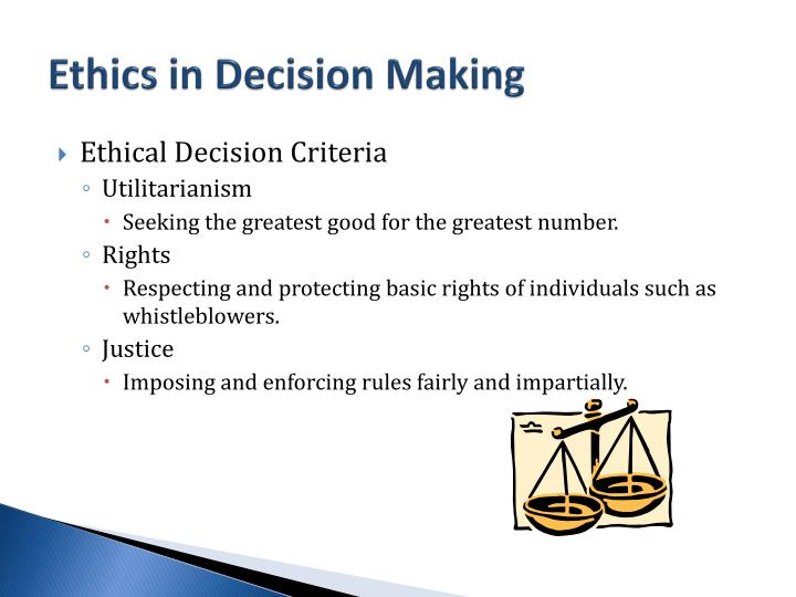 Ethics in Decision Making