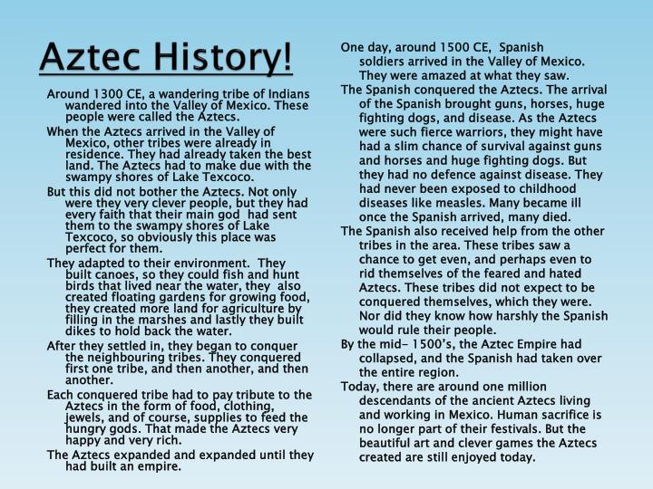 Aztec History!