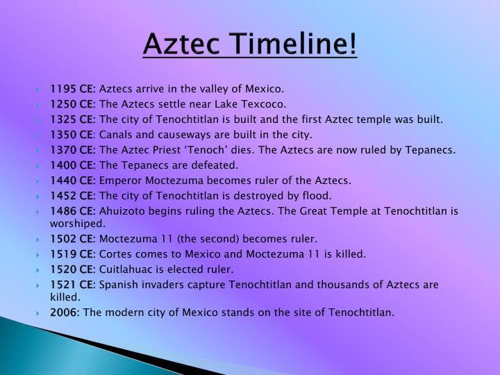 Aztec Timeline!