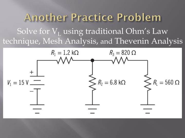 Another Practice Problem